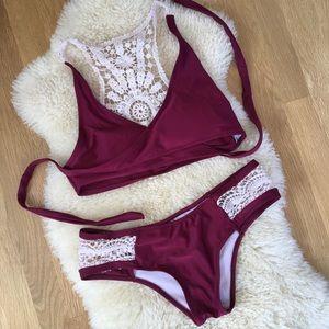 "Cupshe ""Dazzling Sunshine"" Crochet Bikini Set"